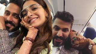 Sonam Kapoor's first video from honeymoon with husband Anand Ahuja |Cute Couple