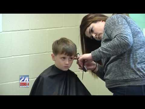 Alexandria Elementary School Hosted Haircuts for the Holidays