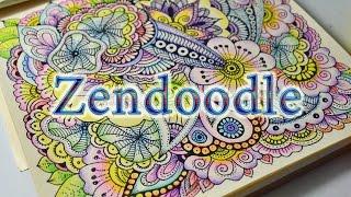 How To Doodle Flowers | Zendoodle | Как Рисовать Дудлинг