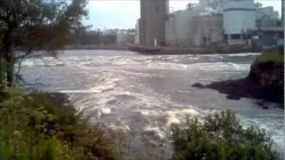 Reversing falls in Saint John, New Brunswick, Canada