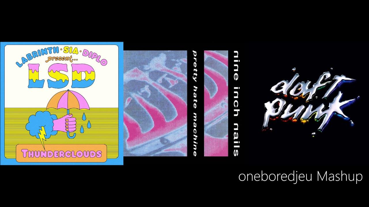 Psychedelic Punk - LSD vs  Nine Inch Nails vs  Daft Punk (Mashup)
