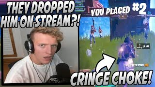 Tfue SHOCKED After Watching Pro Team DROP Teammate After The Most CRINGE CHOKE Ever...