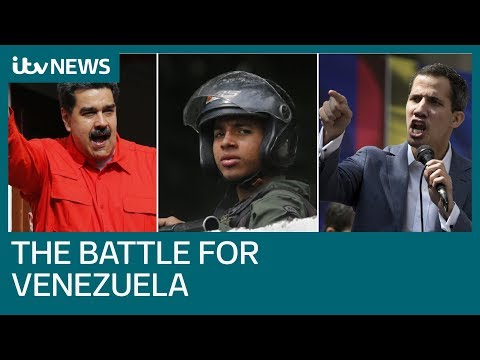 Venezuela's power struggle turns to winning military favour | ITV News
