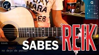 "Cómo tocar ""Sabes"" de Reik en Guitarra Acústica (HD) Tutorial Acordes - Christianvib"