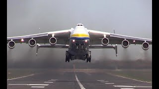 Giant Antonov An-225 Mriya The Worlds Largest Aircraft Takes off Just!!!