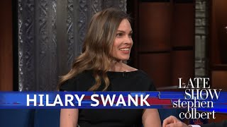Hilary Swank And Stephen Have An 'Act Off'