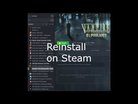 How To Install Vampire The Masquerade Bloodlines 10.5