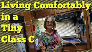 Living Comfortably in a Tiny Class C- Tour with Pixie