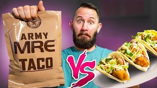 Trying 10 Army Foods VS Gourmet Foods!