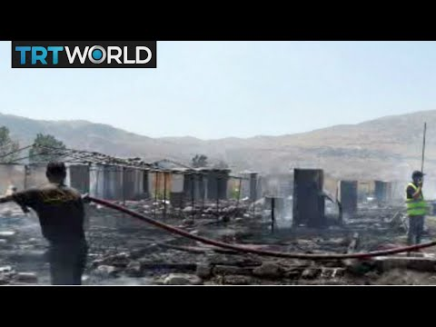 Breaking News: Fire at Syrian refugee camp in Lebanon