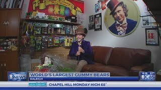 The world's largest gummy bears are made in Raleigh