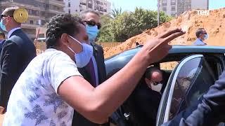 الرئيس عبد الفتاح السيسي يقوم بجولة تفقدية لعدد من مشروعات الطرق والكباري بمدينة نصر