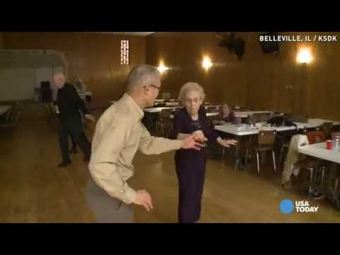100 years old and still dancing...with a younger man
