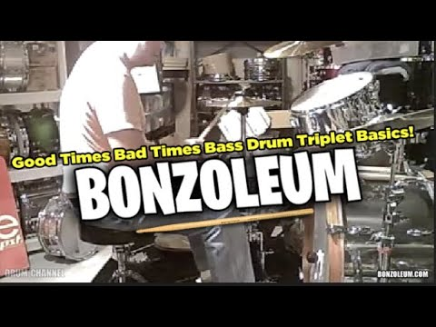 John Bonham GOOD TIMES BAD TIMES Drum Lesson TRIPLET BASICS