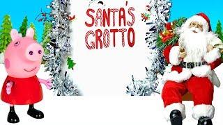 Peppa Pig meets Santa - Christmas Fair and Christmas Story with Presents - Peppa Pig Christmas
