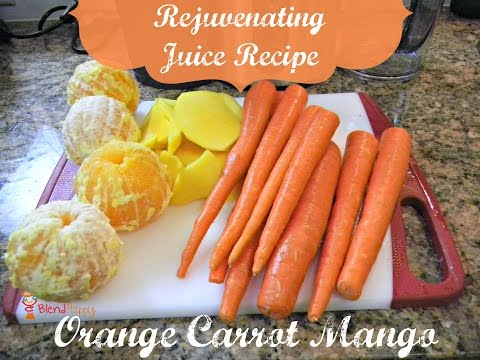 Rejuvenating Orange Carrot Mango Juice Recipe