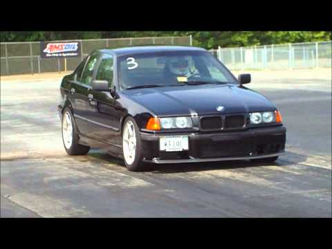Supercharged LS1 BMW 325i Shakedown Pass and Wreck at MIR 8/23/12