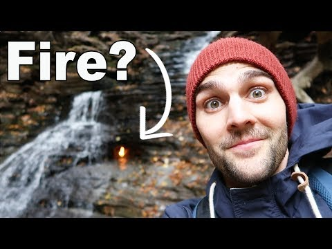 FIRE IN A WATERFALL !? Eternal Flame Falls