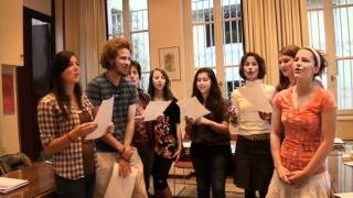 "AHA students are singing ""To Kokoraki"" in Greek"