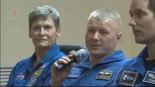 Пресс конференция экипажей  Союз МС 03