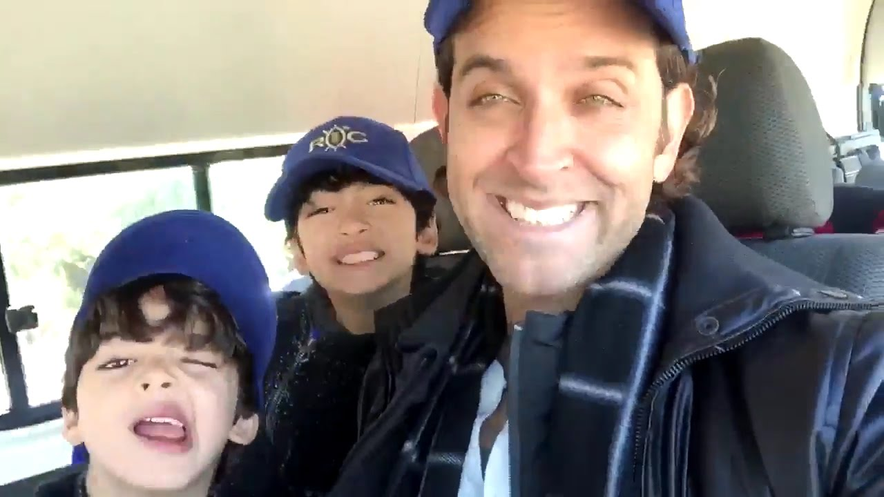 Hrithik Roshan Share Video Of Dubai Madness With Kids Watch Video