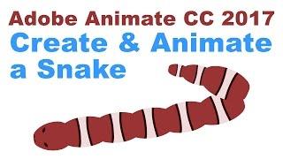 2017 Adobe Animate CC Bir Yılan Oluşturmak Ve Animasyon nasıl