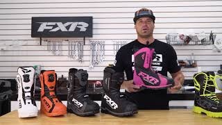 FXR 2018 Snomobile Boot Collection