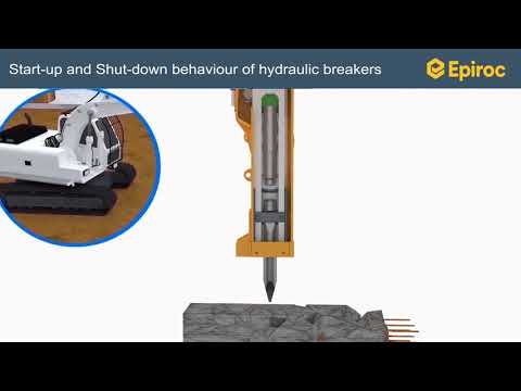 Epiroc Hydraulic Breaker with IPS - YouTube