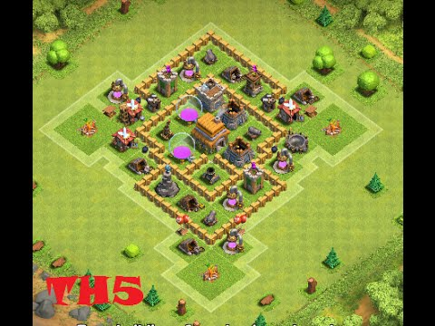 Clash Of Clans Best Town Hall 5 Defense Coc Th5 Best Hybrid Base