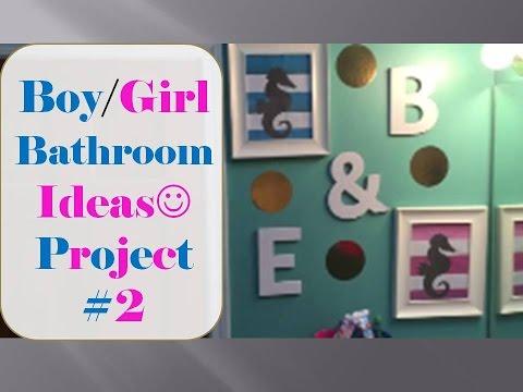 Boy/ Girl Bathroom Ideas  Project #2  MrsLoveAboveAll
