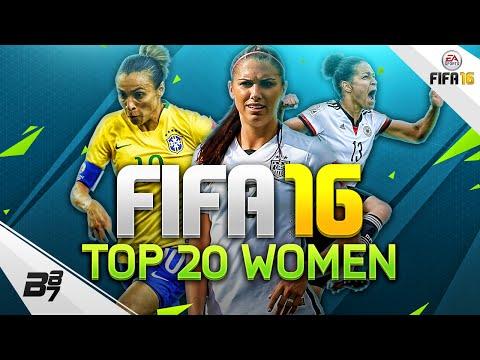 THE TOP 20 WOMEN IN FIFA 16!