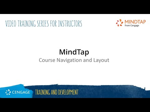 MindTap: Course Navigation and Layout