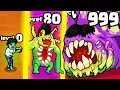 HOW STRONG IS THE MOST OVERPOWERED ZOMBIE EVOLUTION? (9999+ HIGHEST LEVEL) l Zombie Evolution Party
