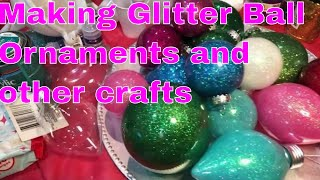 Glittering Balls and Other Crafts plus Mini Rant