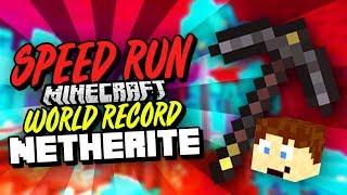 Minecraft Speedrun WR Netherite Pickaxe%