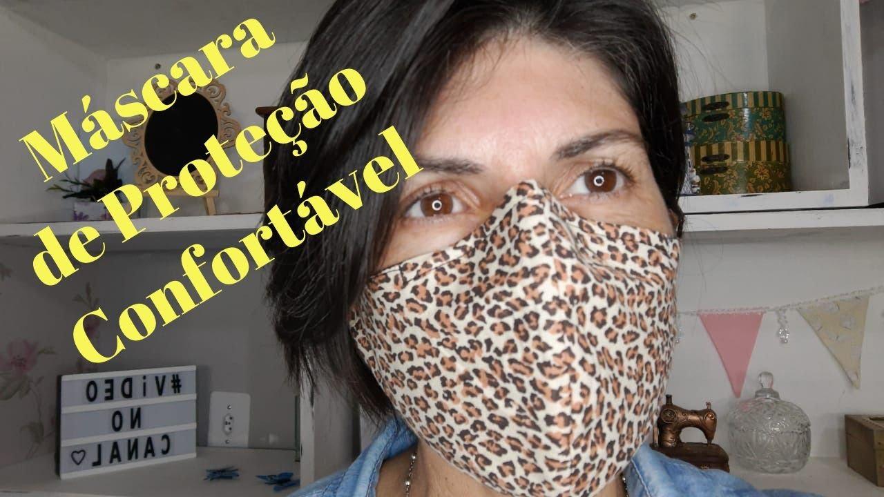 MÁSCARA DE PROTEÇÃO CONFORTÁVEL | Com sistema de elásico diferenciado.
