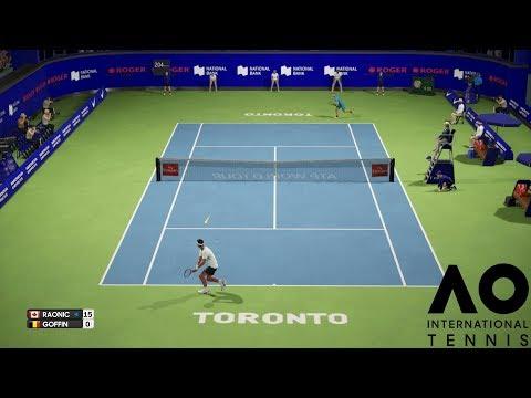Milos Raonic vs David Goffin - AO International Tennis - PS4 Gameplay