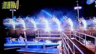 【倫敦奧運開幕式】貝克漢坐船傳遞聖火(翻錄影自台視)