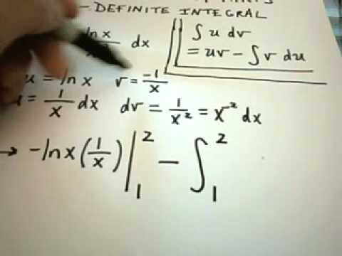 Integration by Parts - Definite Integral