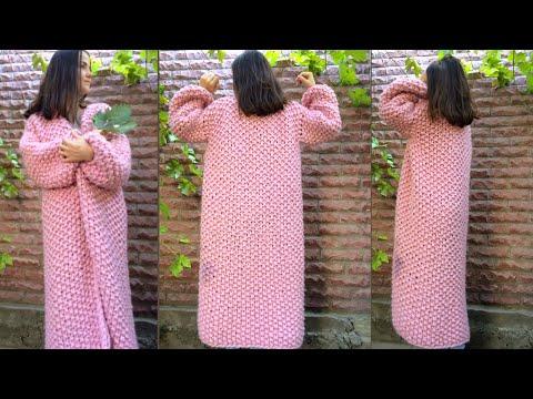 Жакет спицами из толстой пряжи для девочки