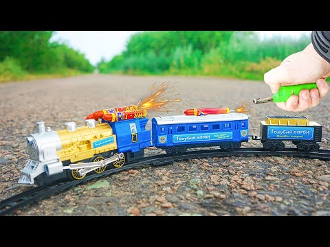 Experiment: Toy Train vs Fireworks