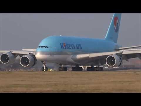 Amazing Landing Airbus A380-800 Korean Air