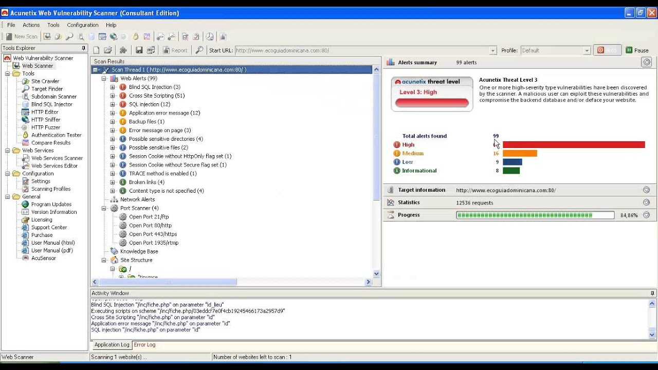 Acunetix Web Vulnerability Scanner - italiapast