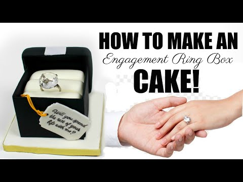 how-to-make-an-engagement-ring-box-cake!