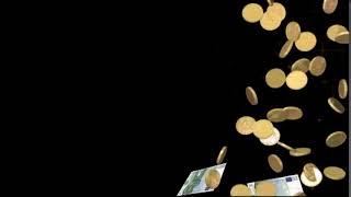Евро и золотые монеты падают сверху