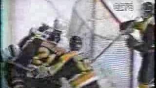 Mats Sundin cheapshot on Ray Bourque 3/03/1997