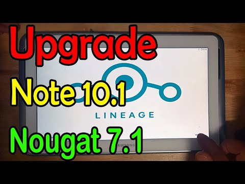 How To Flash LineageOS 14.1 Galaxy Note 10.1 N8000 Nougat 7.1 ROM | NakRoB Freedom