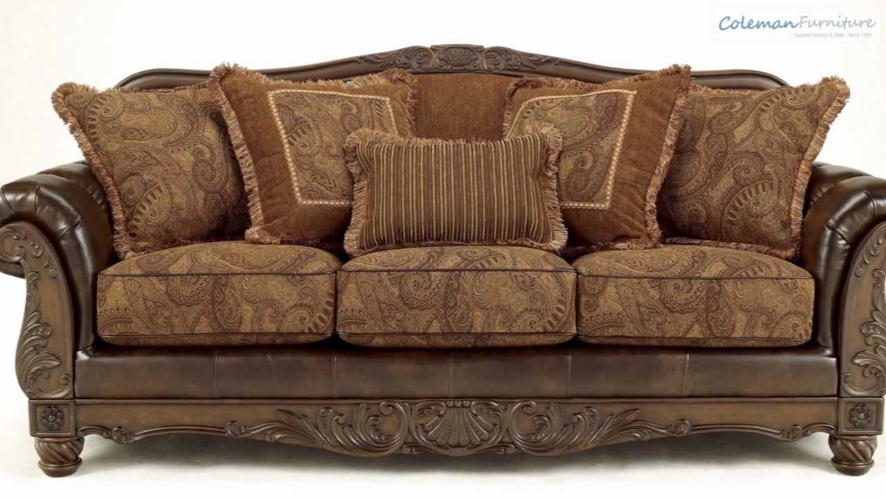 Fresco Durablend Antique Living Room Collection From Signature Design By Ashley Youtube