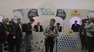 60 Jahre Saarland. Sonderpostamt in der Staatskanzlei