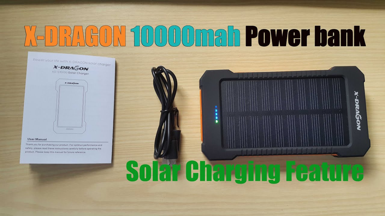 Usb solar power bank review.